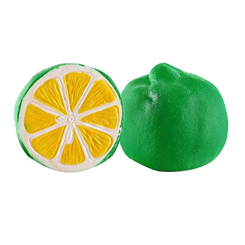 (Lightclub Soft Half Lemon Slow Rising Squeeze Toys Kids Adults Stress Reliever - Green)