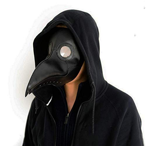 Gmasking Plague Doctor Mask Birds Long Nose Beak Steampunk Halloween Costume Props]()