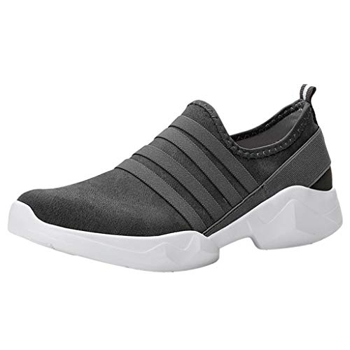 OrchidAmor Fashion Couple Outdoor Suede Casual Sport Shoes Runing Breathable Shoes Sneakers 2019 Summer Soft Comfy Shoes Dark Gray ()