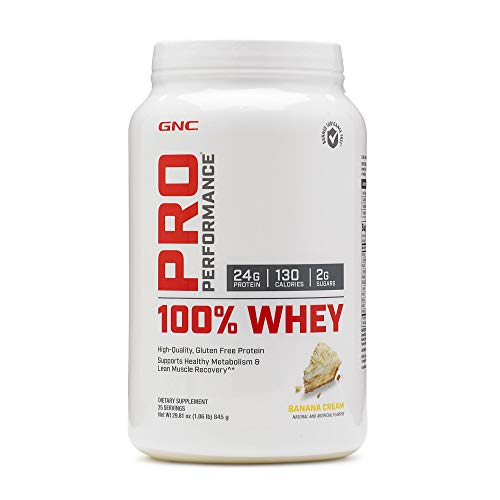 Banana Whey Pro - GNC Pro Performance 100 Whey Protein - Banana Cream 1.86 lbs.