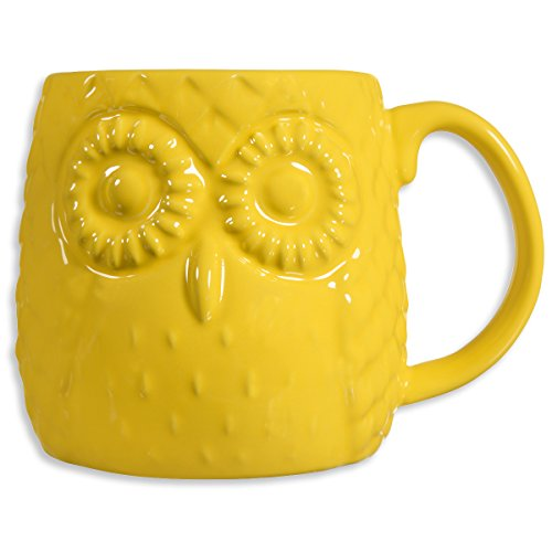 Home Essentials Embossed Owl Yellow