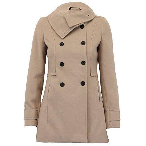 Botonadura London Classic Wol650 For Doble Invierno Moda Wool Chaqueta Abrigo Look De Piedra Women 6nHSwqxn