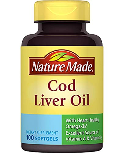 Nature Made Cod Liver Oil Softgels, 100 ct
