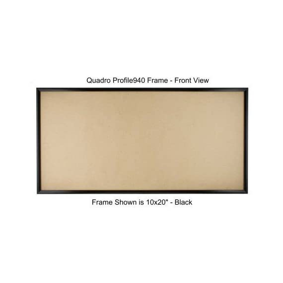 """Quadro Frames 11x22 inch Picture Frame, Black, Style P375-3/8 inch Wide Molding - ASSEMBLY IS REQUIRED. High precision components snap together quickly and without tools. Frame Kits include 1/8"""" thick MDF backing panel, 0.040"""" thick clear PET facing panel and molding set with concealed corner connectors for assembly and hanging. Moldings are 3/8 inches wide ABS plastic with a metallized mylar surface finish which is virtually indistinguishable from metal. - picture-frames, bedroom-decor, bedroom - 41opE8L1RlL. SS570  -"""