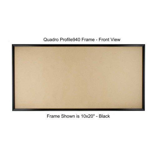 Quadro Frames 11x22 inch Picture Frame, Black, Style P375-3/8 inch Wide (Wall Connector Kit)