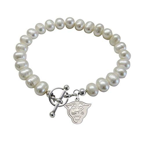 Georgia State University Panthers Freshwater Pearl Charm Bracelet (Georgia State Panthers Bracelets)