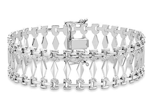 """Style Cléopâtre Or Blanc 9Carats Bracelet 19cm/7,5"""""""