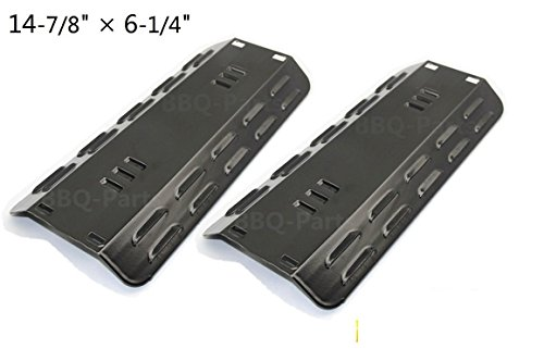 Hongso PPC501 (2-pack) Porcelain Steel Heat Plates, Heat Shield, Heat Tent, Burner Cover, Vaporizor Bar, and Flavorizer Bar Replacement for Gas Grill Model Dyna-Glo DGP350NP,101-03005 (14 7/8