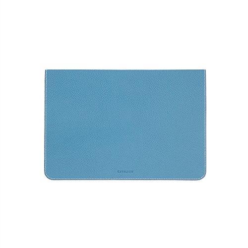 ZENDO MacBook 12'' Leather Cover (Full-Grain Shrunken Calf Leather) | PRIMO Luxury Full-Grain Leather [SIZE: MacBook 12'' | AQUABLUE] by Zendo (Image #4)