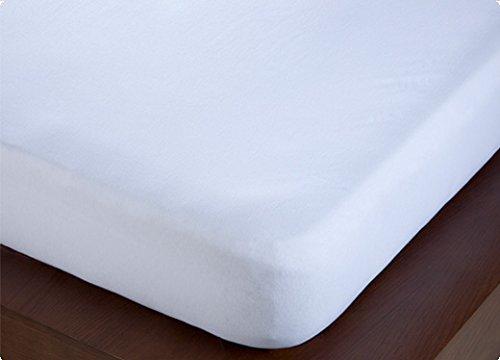 ForenTex - Sabana Bajera Ajustable, (M-4001), Blanca, Cama 105 cm