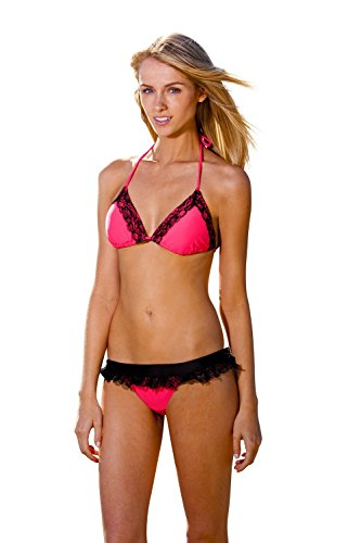 Ingear Lace Triangle/lace Skirted Bottom (Small, - Black Sale For Coral