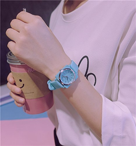 Generic Cute little girl's mind fresh and soft sister pink jelly casual watch high school students girlfriends sisters birthday gift