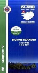 Island Serkort 09 Hornstrandir 1 : 100 000 / 1 : 55 000