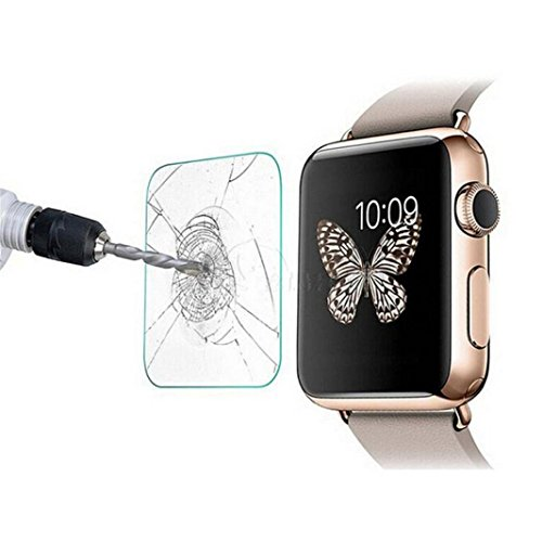 Price comparison product image GBSELL Tempered Glass Screen Protector Guard Film For Apple Watch Series 3 42mm/38mm (38mm, Clear)