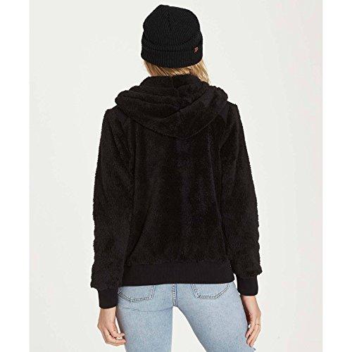 Billabong Women's Cozy Down Hooded Zip up, Black, XS by Billabong (Image #2)
