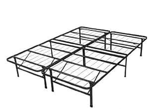spa sensations steel smart base bed frame black twin xl home kitchen. Black Bedroom Furniture Sets. Home Design Ideas