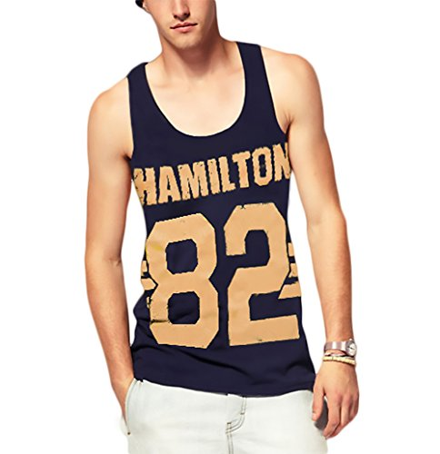 KINGDESON Men's Summer Casual Sleeveless Vest Tank Top T-Shirt (Cheerleading Outfits Cheap)