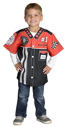 Girl Pit Costume (Aeromax My 1st Career Gear Racing Pit Crew, Easy to put on shirt fits most ages 3 to)