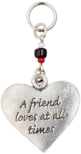 Cathedral Art 2-Inch Friend Heart Key Ring Charm (KRC137)