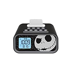Nightmare Before Christmas Jack Skellington Dual Alarm Clock Speaker System, DJ-M23