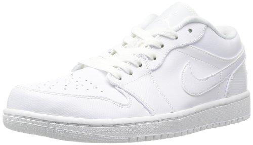 Nike Air Jordan 1 Low, Zapatillas de Deporte para Hombre White/White/White