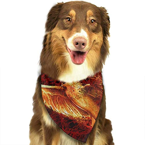 (Han Jun Hua Dog Pets Bandana Scarf Fire Eagle Triangle Bibs Eco-Friendly Printing Kerchief Set Dogs Cats Pet Decor)