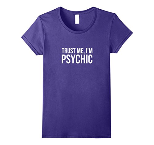 Psychic Reader Costume (Womens Funny Psychic T Shirt - Fortune Teller Humor XL Purple)