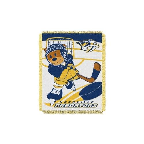 NHL Nashville Predators Score Woven Jacquard Baby Throw, 36