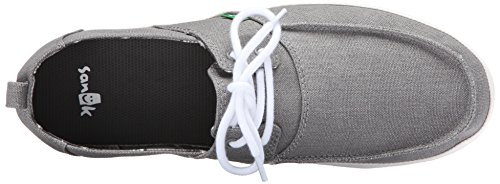 Sanuk Mens Admiral Boat Shoe Grey