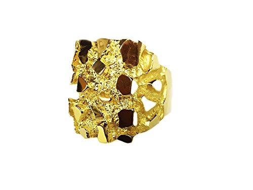 - 14Kt Men'S Gold Nugget Design Fashion Ring 43 Grams (4575