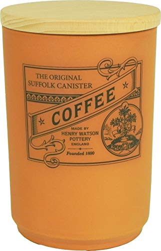 (Henry Watson - Airtight Coffee Canister - Terracotta - Made in England - 6.5 inches x 4.4 inches)