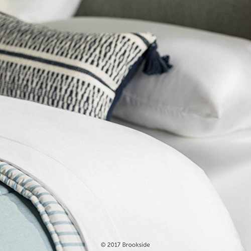 BROOKSIDE - TENCEL Sheet Set - Luxurious Feel - Great for Sensitive Skin - Sateen Weave - Eco Friendly - King - White by Brookside (Image #5)