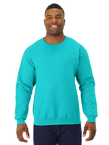 Plain Crewneck Sweatshirt (JERZEES - NuBlend Crewneck Sweatshirt - 562MR-Scuba Blue-2XL)