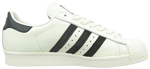 adidas OriginalsSuperstar 80s Deluxe - Zapatillas Hombre Blanco - Weiß (Vintage White S15-ST/Core Black/Off White)