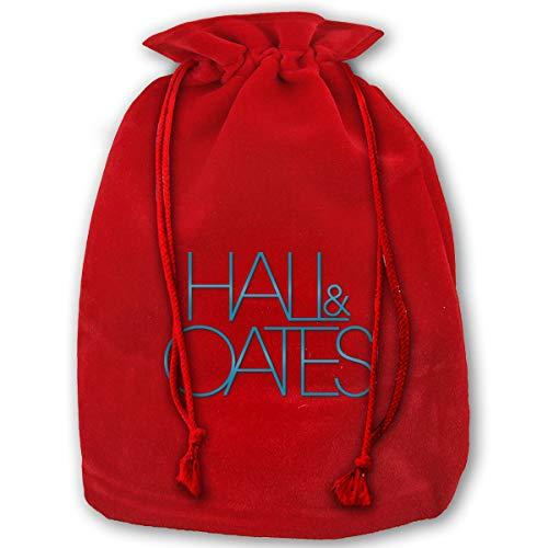 Halloween Hall And Oates (Virginile Hall & Oates Santa Sack Christmas Bag Large Gold Velvet Santa Bag Halloween Cosplay Gifts with Drawstrings)