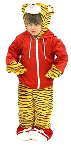[Daniel Tiger's Neighborhood Tiger Cub & Red Jacket Costume] (Cubs Fan Costume)