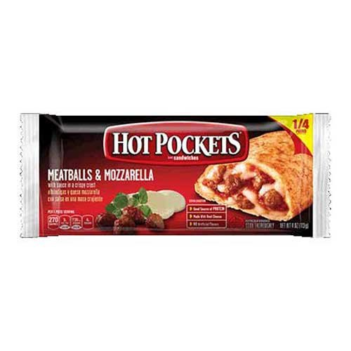 Mozzarella Ball (Nestle Hot Pockets Meatballs and Mozzarella Sandwich, 4 Ounce -- 24 per case.)