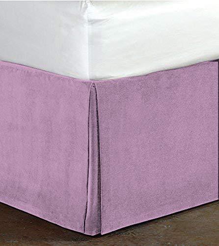 Sleepific Linen Super Luxurious Classy Royal 100% Cotton Velvet Bedskirt 18