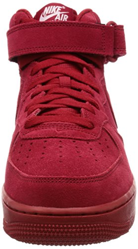 Nike Heren Air Force 1 Mid Basketbalschoenen Gym Rood / Gym Rood-wit