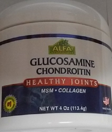 (ALFA VITAMINS Glucosamine & Chondroitin 4 Oz Cream With MSM & Collagen   Natural Cream For Men & Women   Soothe Joint, Bone & Muscle Pains, Improve Mobility, Relieve Discomfort & Speed Up Healing)