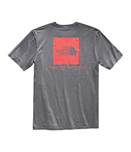 The North Face Men's Short Sleeve Red Box Tee TNF Medium Grey Heather/Fiery Red Medium