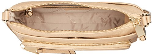 Gold Pebble Klein Crossbody Top Nude Calvin Leather Zip qZwT0t