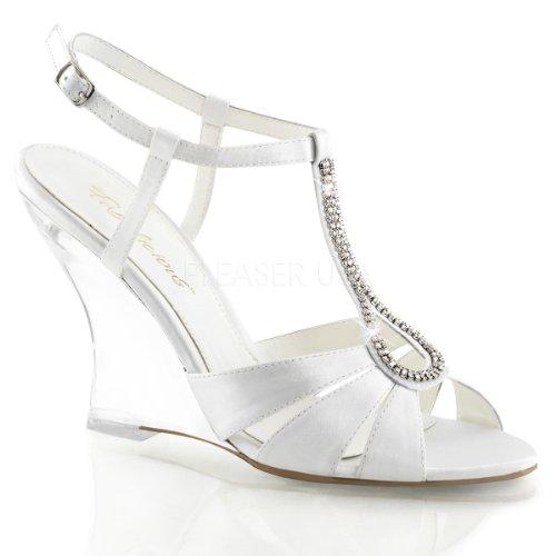 FABULICIOUS - zapatos de tacón mujer Wht Satin/Clr
