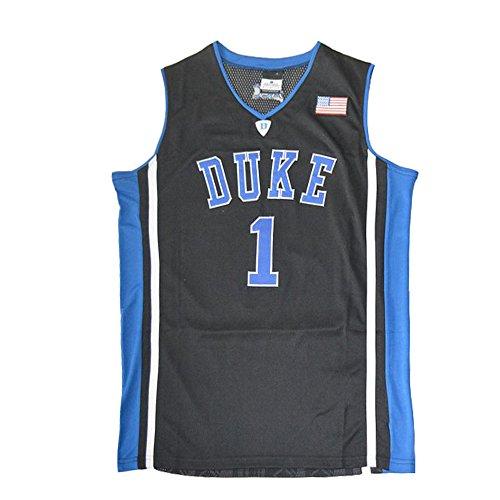 Mens Duke Irving No.1 Blue Devils Basketball Jersey Black Size XXXL