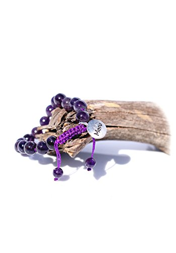 Premium Amethyst Purple Mala Beads Bracelet for Women – 8mm Mala Bead Bracelet Women – Women Mala Beads Bracelet