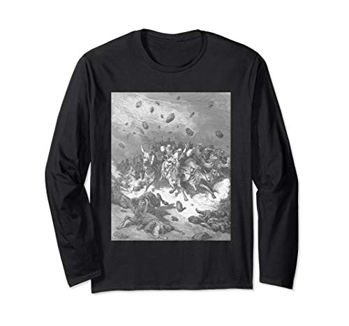 Destruction of the Army of the Amorites by Gustave Dore Long Sleeve T-Shirt