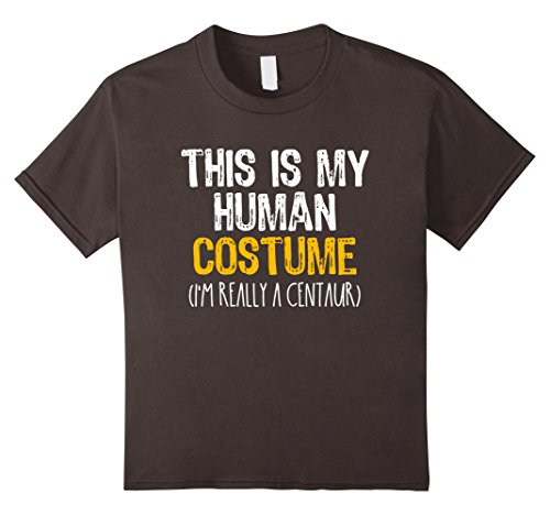 Centaur Costume Kids (Kids This Is My Human Costume Centaur Halloween Funny T-shirt 12 Asphalt)