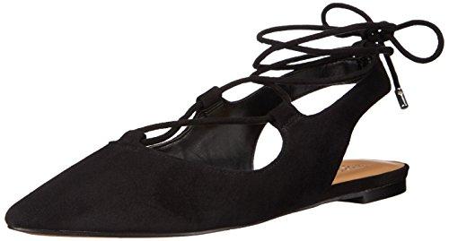 Franco Sarto Women's L-Snap Ballet Flat, Black, US US Black