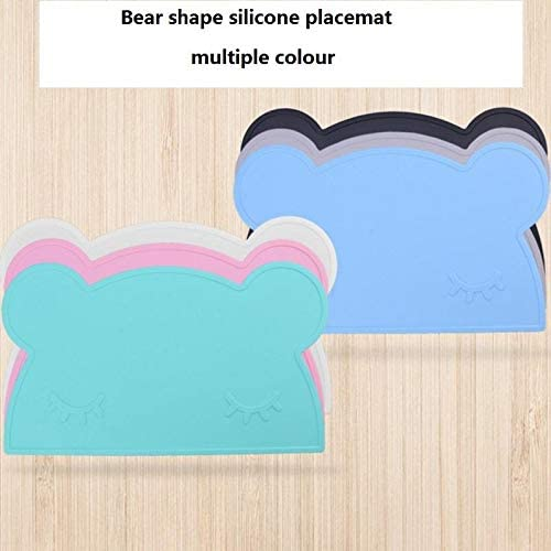 Firoya Childrens Placemat Silicone Placemat Heat-resistant Non-stick Feeding Board Portable Travel Dinner Placemat Children Tableware 11.02/× 18.11 Black
