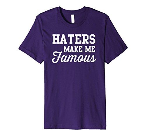 Mens Haters make me famous t-shirt 3XL Purple